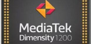Анонсирован 6-нанометровый процессор MediaTek Dimensity 1200